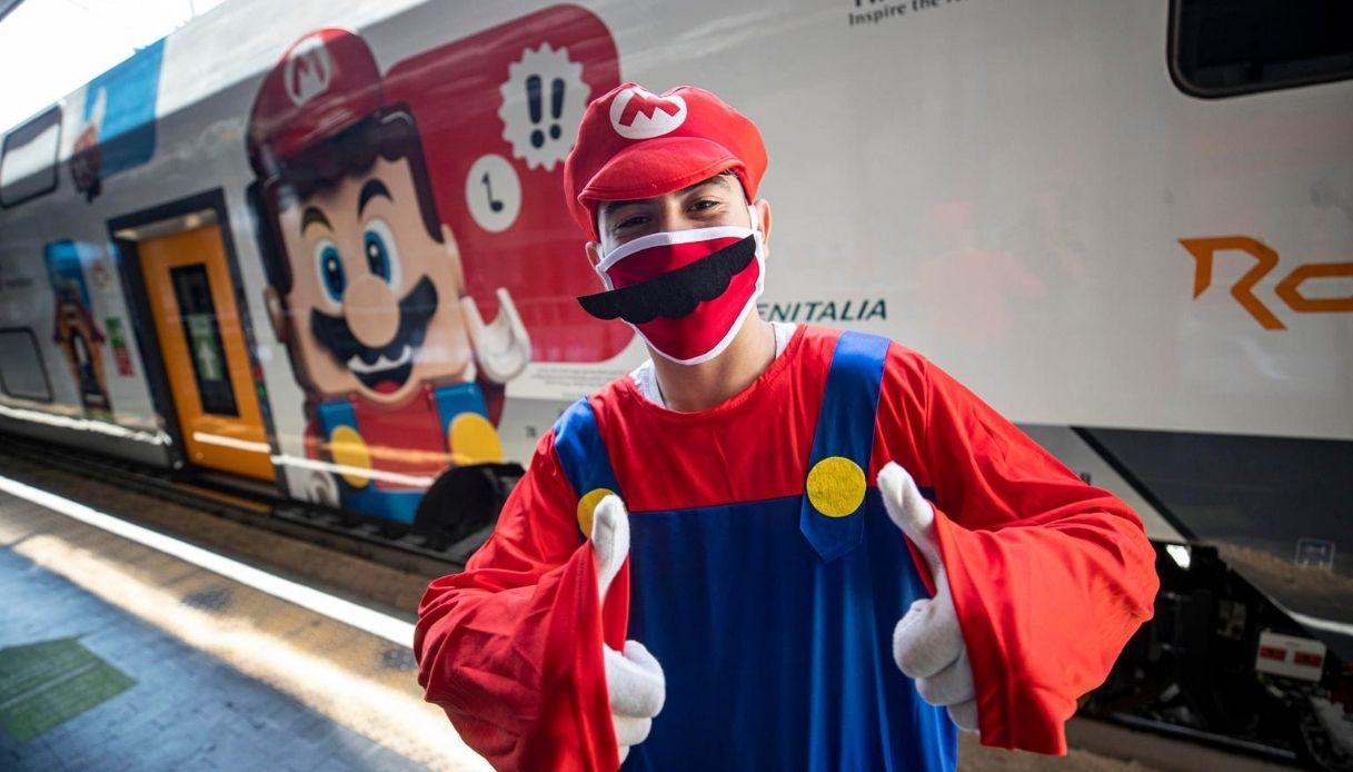A Roma Termini spunta il treno LEGO Super Mario