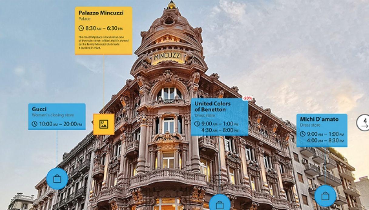 Bari, prima città al mondo con una sua copia in realtà aumentata