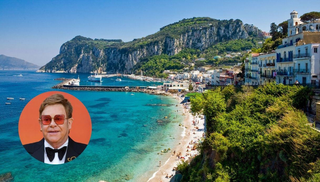 Elton John a Capri: vacanze italiane per la popstar britannica