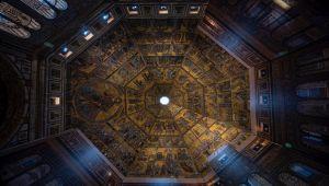 Battistero di Firenze restauro dei mosaici interni