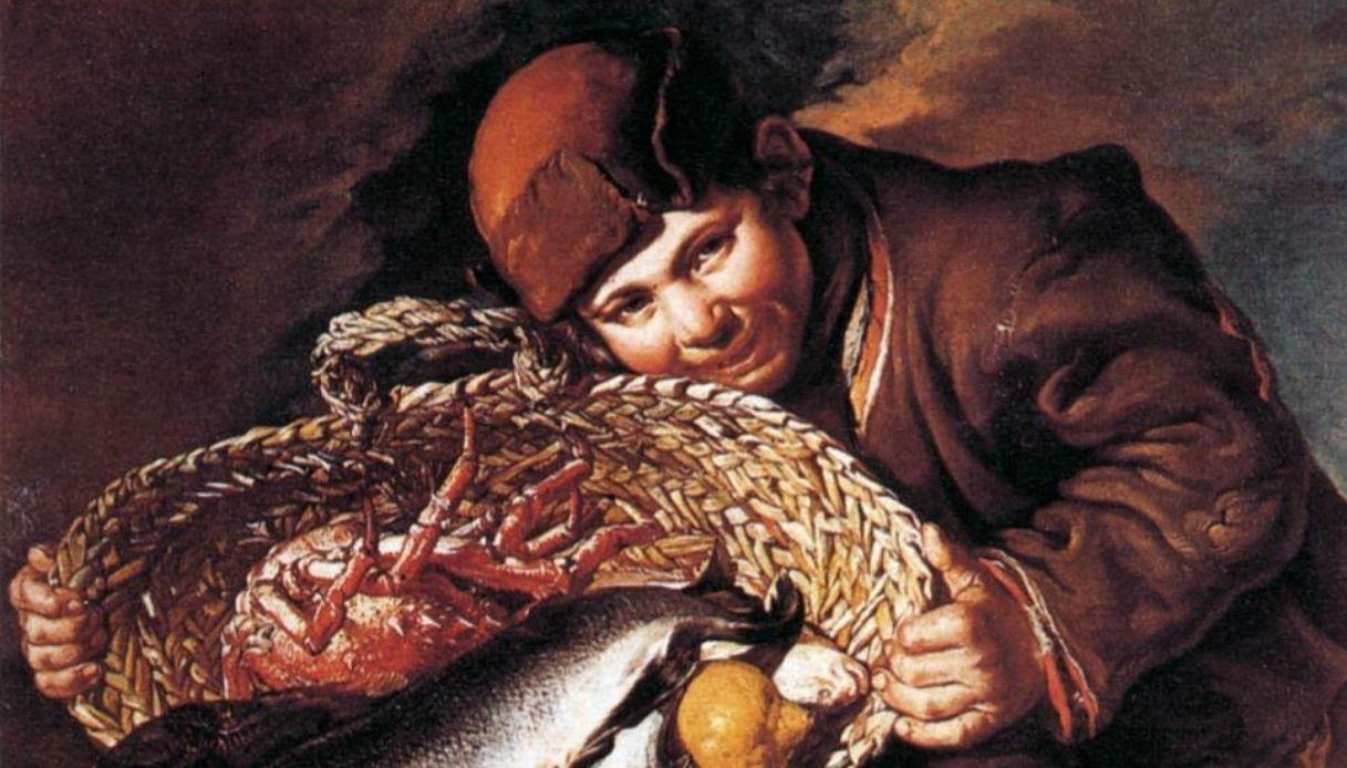 Ragazzo con la cesta di pesci e di aragoste, Giacomo Ceruti