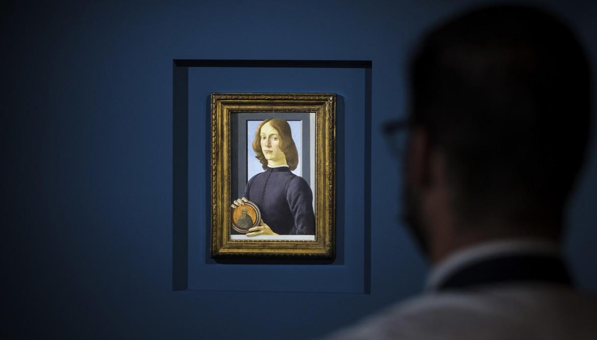 Venduto all'asta Ritratto di giovane con tondo di Santo di Botticelli