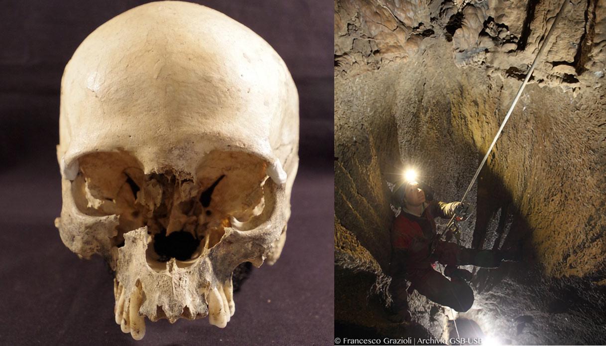Il cranio ritrovato nella Grotta Marcel Loubens è diventato un caso