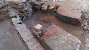 Fornace medievale scoperta a Lunano