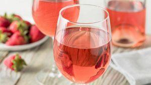 Calici di vino Rosé