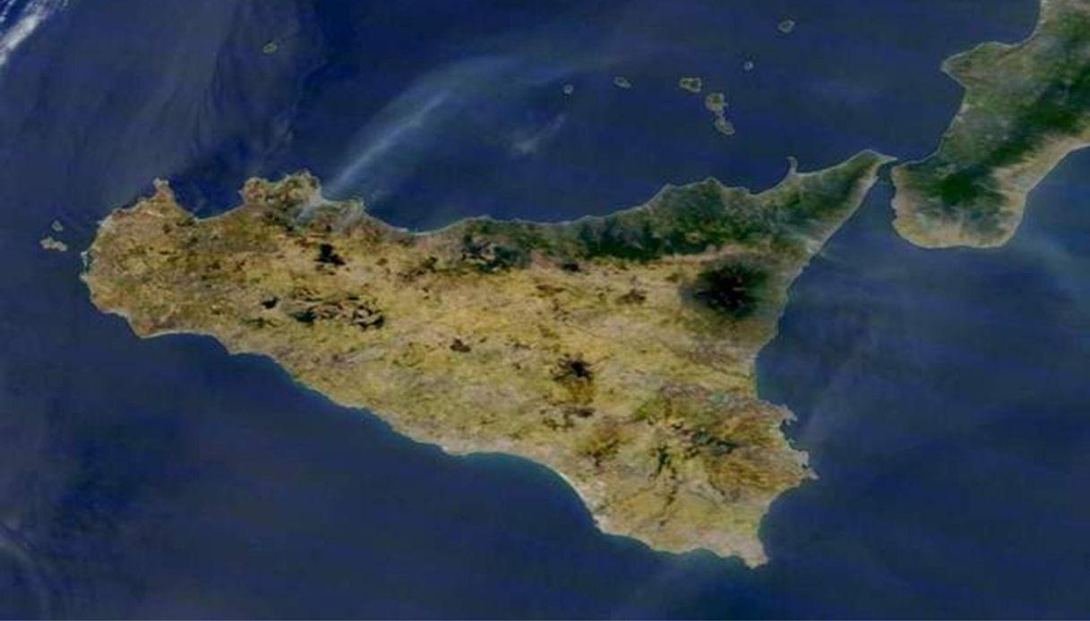 Sicilia vista dalla Nasa