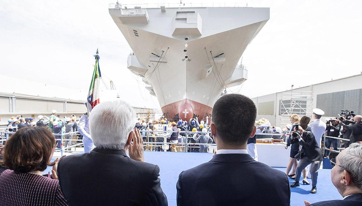 Risultati immagini per varo nave d'assalto più grande con mattarella