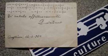 Messaggio in codice Morse di 60 anni fa.