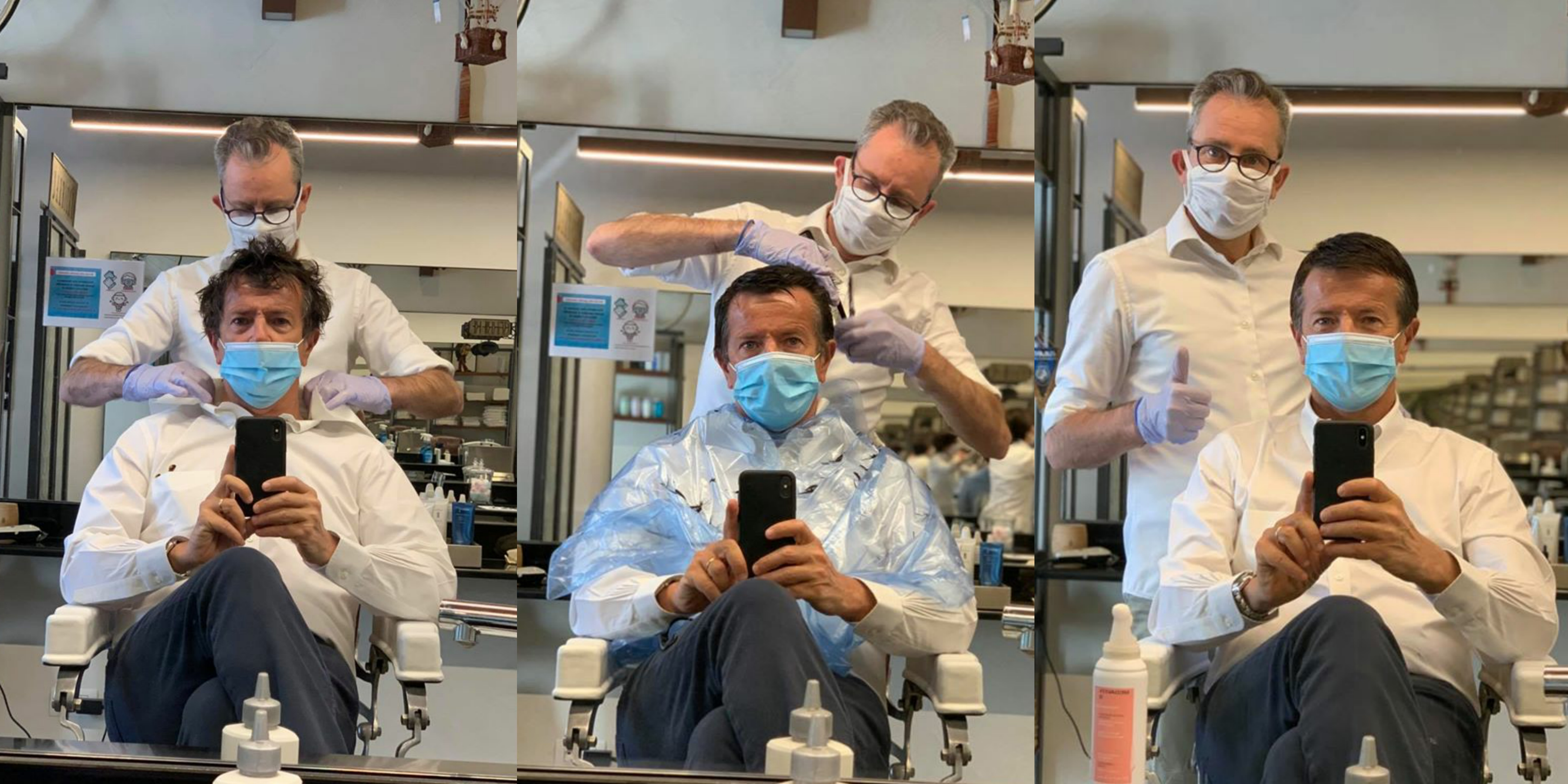 """Giorgio Gori taglia i capelli dal barbiere: """"Ora è vera ..."""