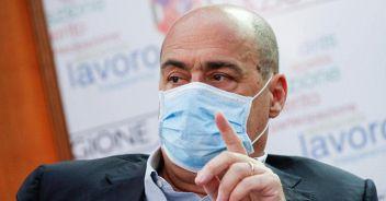 Zingaretti: 'Ci sono scellerati che si tolgono la mascherina'