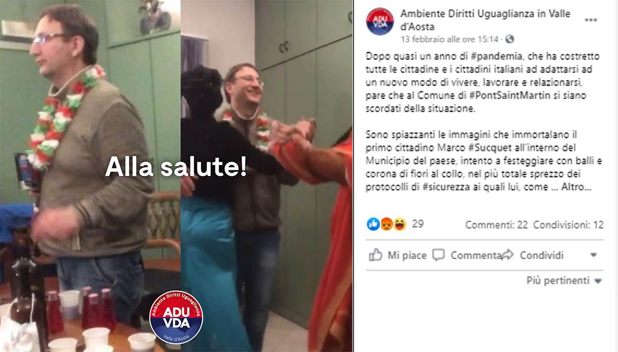 Covid, festa nel municipio senza mascherina: multato il sindaco