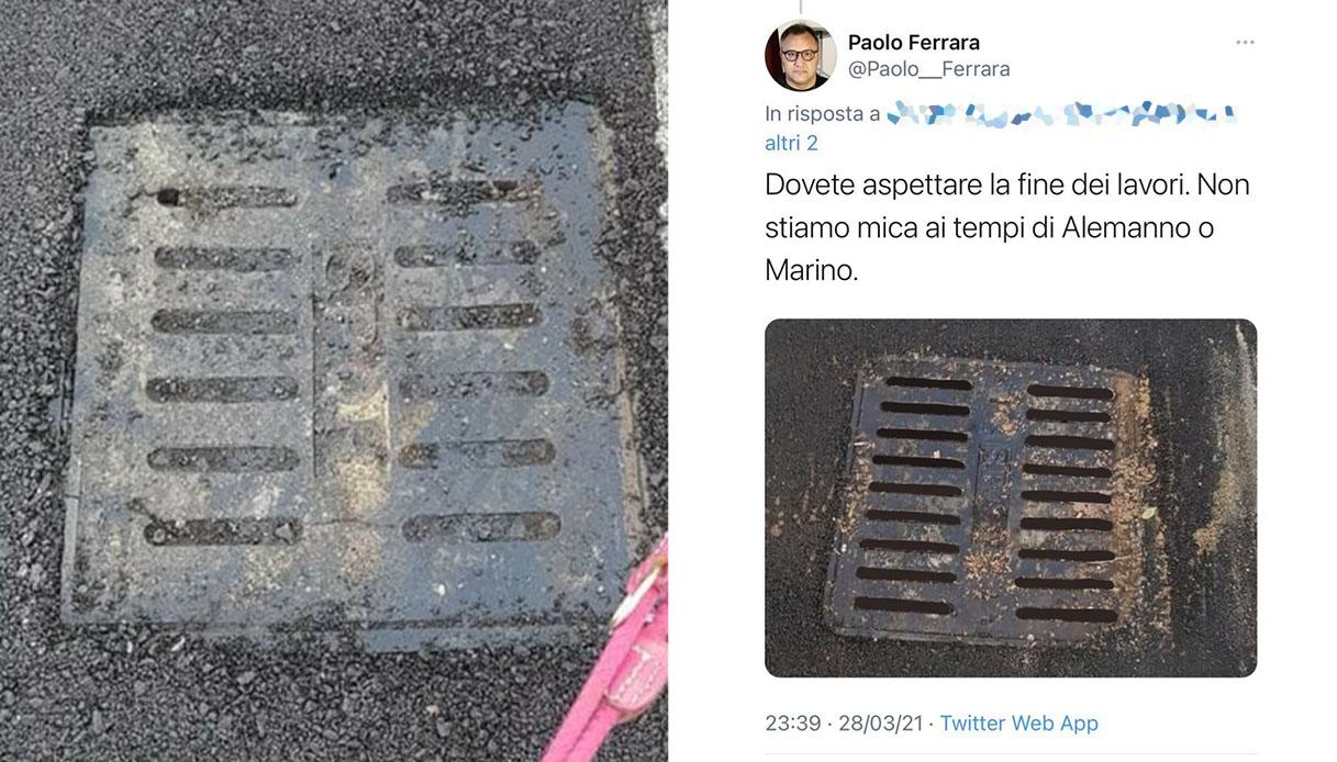 """Roma, consigliere M5S: """"Lavori fatti bene"""". Ma ha usato Photoshop"""
