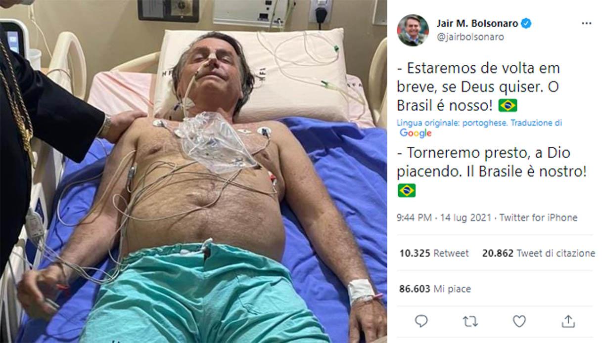 Brasile, il presidente Jair Bolsonaro ricoverato d'urgenza: il motivo