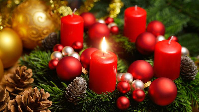 candele profumate per l'inverno