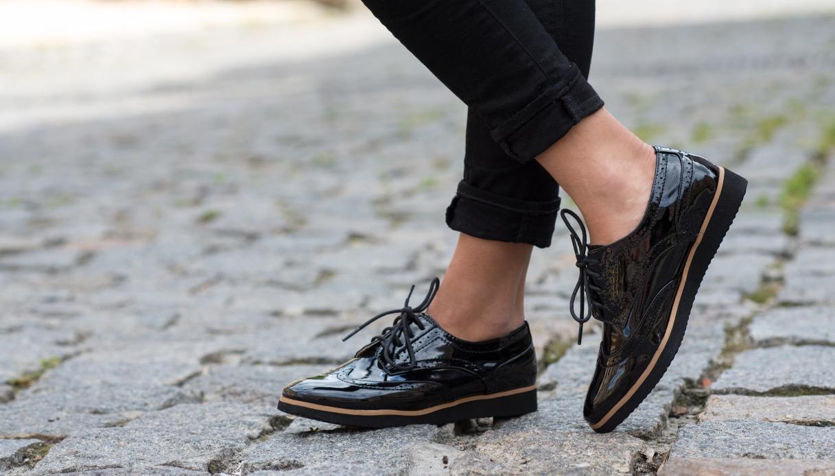 Le scarpe Oxford da donna