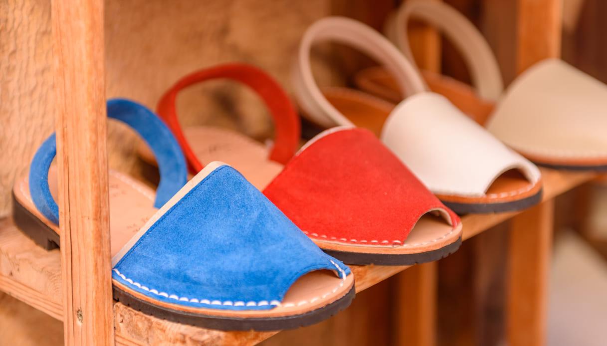 minorchine scarpe