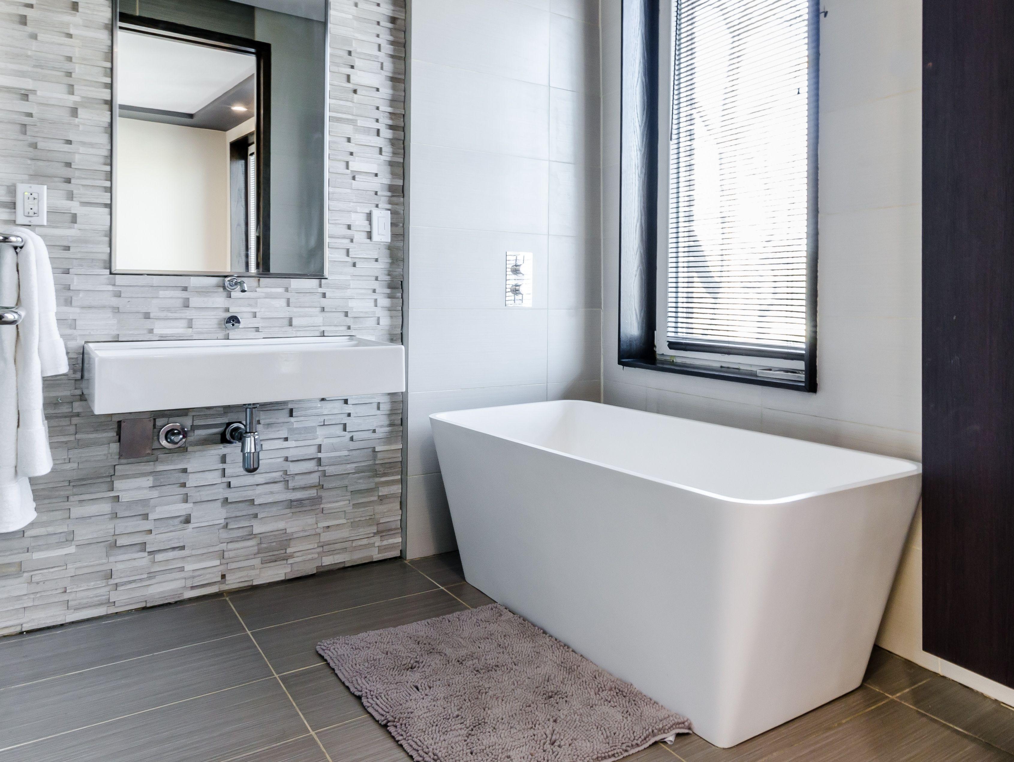 Colori Per Arredare Il Bagno : Bagno grigio e bianco tante idee per arredarlo con stile