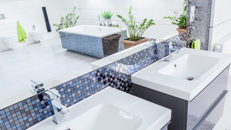 Bagno con mosaico tante idee per utilizzare le piastrelle a mosaico