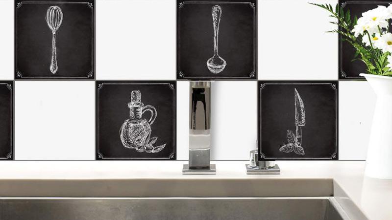 Piastrelle adesive una soluzione comoda per cucina e bagno