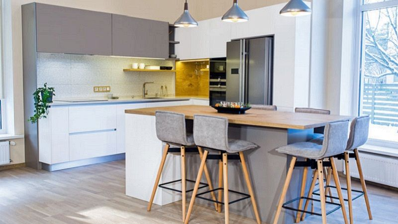 Arredare una cucina senza tavolo