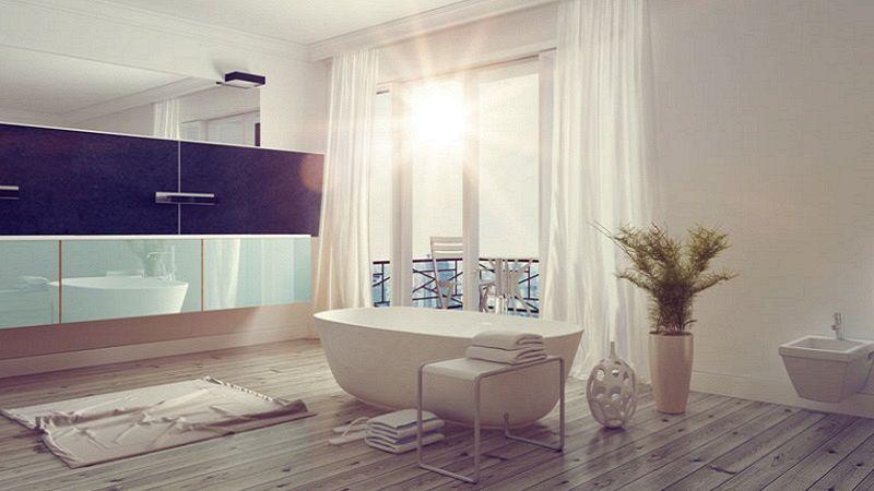 Progettare un bagno open space in camera da letto