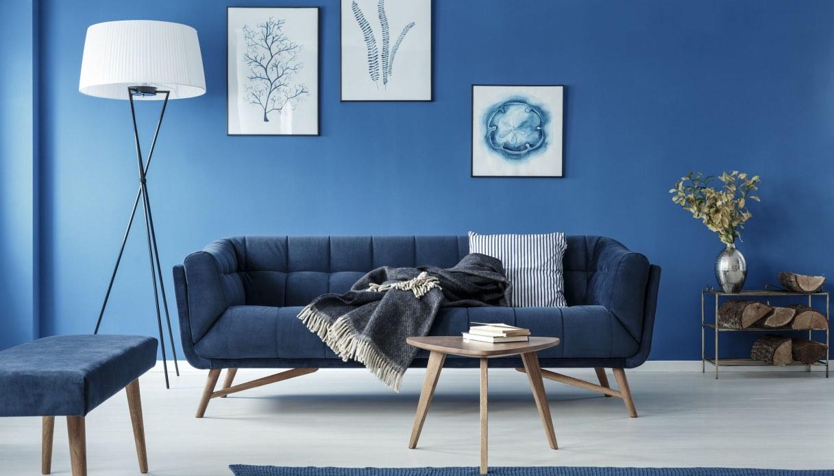 Tecniche Di Imbiancatura Moderna classic blue: pitturare casa con il pantone del 2020