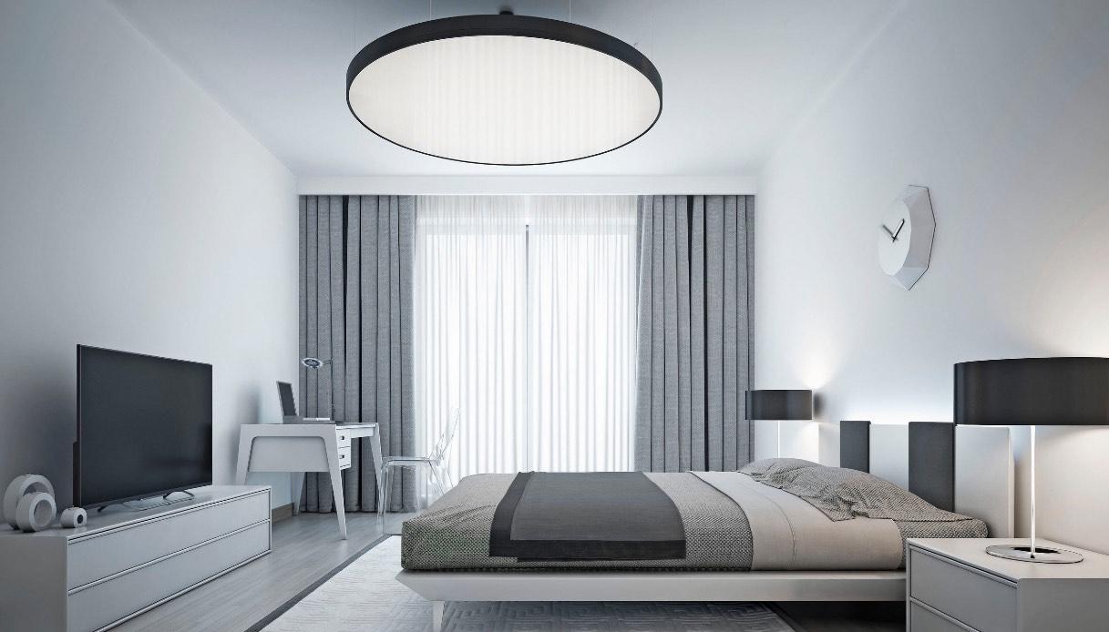 Pavimenti Camere Da Letto Moderne scegliere le tende per una camera da letto moderna