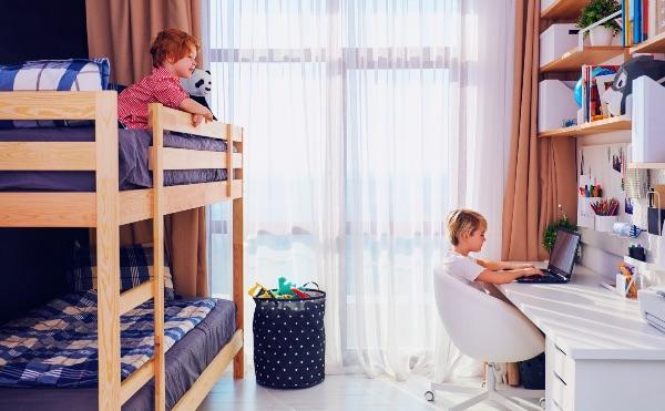 Cameretta dei ragazzi: ecco il letto a castello
