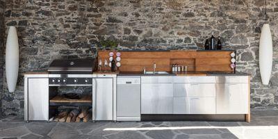 cucina da esterno in muratura