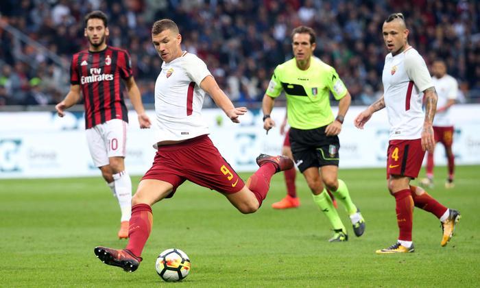 Dzeko-Florenzi, Roma vince 2-0 Secondo ko di fila per il Milan
