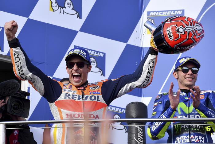 MotoGp Australia: vince Marquez, Rossi secondo