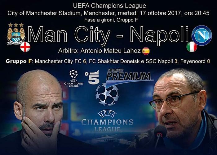 Champions: City show per 30', Napoli esce a testa alta