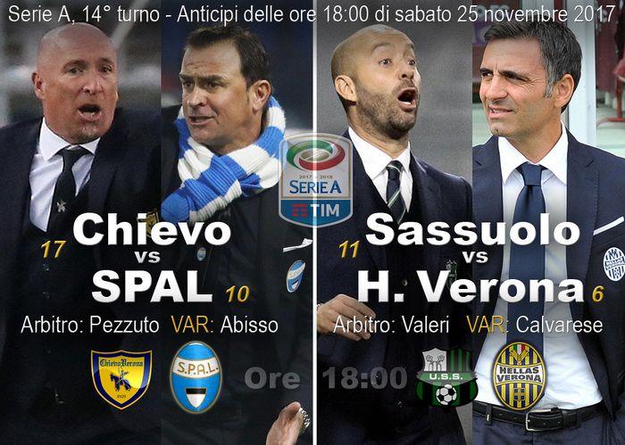 Il Verona inguaia il Sassuolo, il Chievo batte la Spal in rimonta