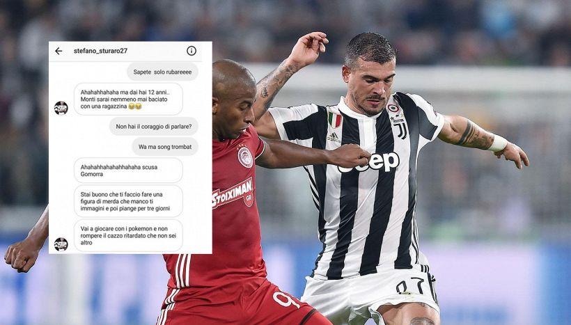 """Juve, Sturaro litiga con un bambino sui social: """"Ritardato"""""""