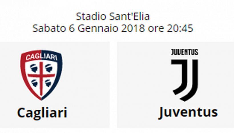 Cagliari Juventus, dove vederla in tv, streaming live. Formazioni