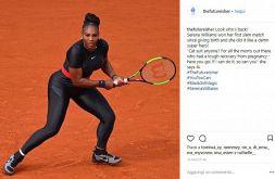 Serena Williams in total black, la pantera fa ancora paura