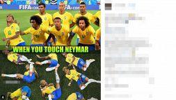 Meme da ridere, le sceneggiate di Neymar viste dai social