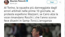 """Errori arbitrali, Pistocchi pro Toro: """"Che arroganza"""""""