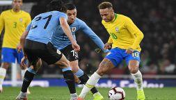 Cavani-Neymar, lite anche con le nazionali