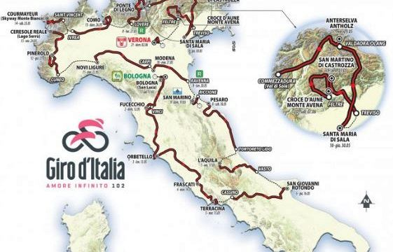 Calendario Giro D Italia.Giro D Italia 2019 Il Calendario Delle Tappe Virgilio Sport