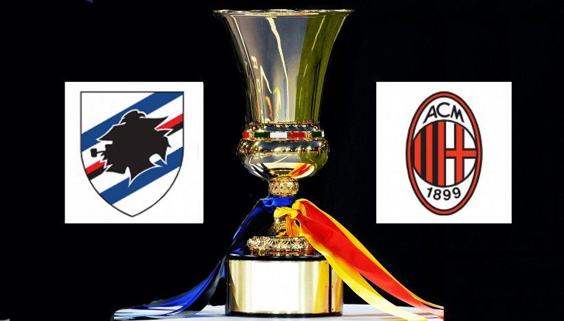 Sampdoria-Milan di Coppa Italia, dove vederla in tv e streaming