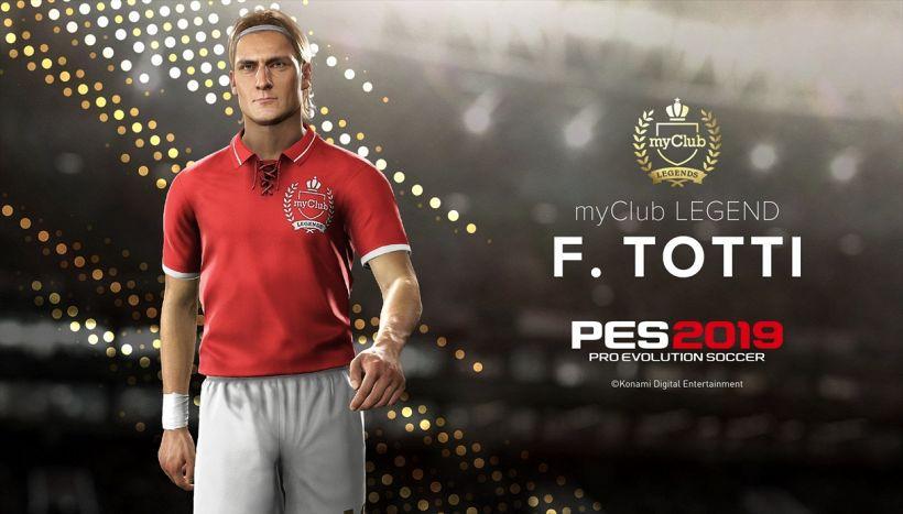 Pes 2019, tra le leggende in arrivo anche Francesco Totti