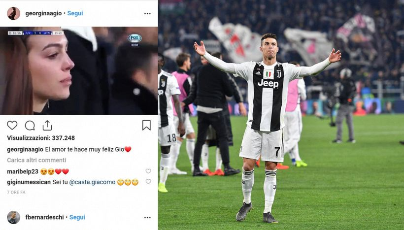 Georgina, lacrime e dedica Instagram per Ronaldo