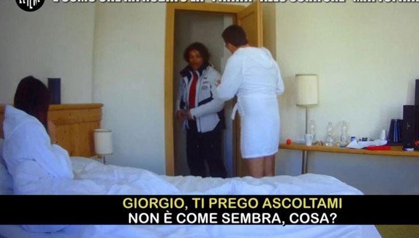 Giorgio Rocca becca con un altro sua moglie: lo scherzo