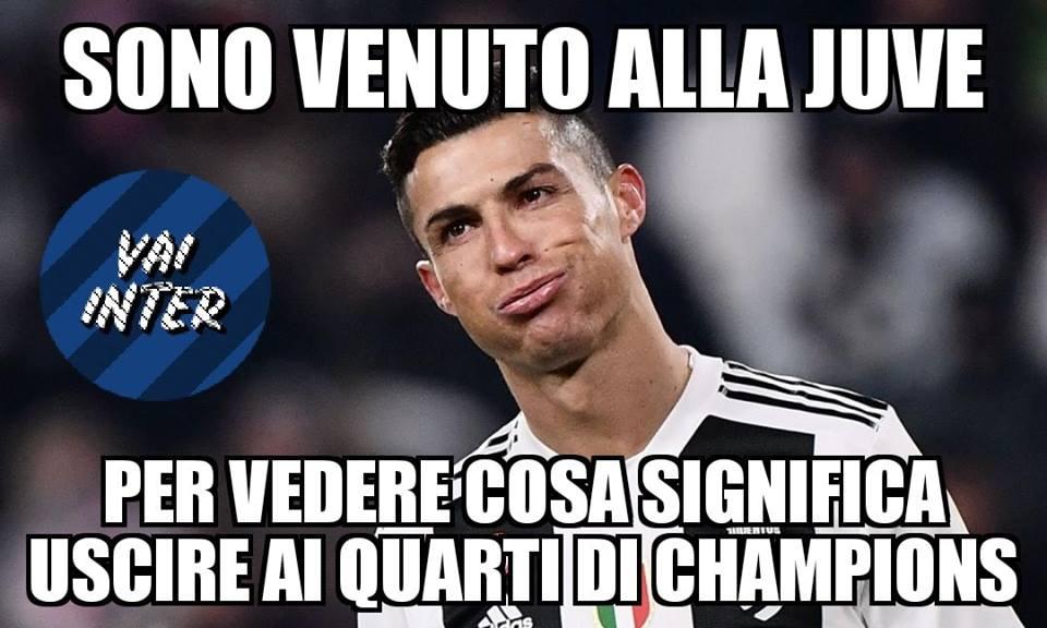 Juve fuori in Champions ironia, meme e sfottò sui social , Juventus fuori  in Champions ironia, meme e sfottò sui social