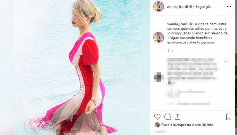 Wanda Nara non tollera più gli attacchi di Ivana Icardi