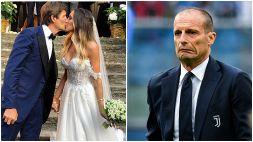 La ex di Allegri sposa, Satta e Boateng insieme alle nozze: foto
