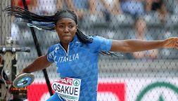 Daisy Osakue vince l'oro nel disco a un anno dall'aggressione
