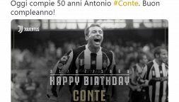La Juve fa gli auguri a Conte, tifosi bianconeri al veleno