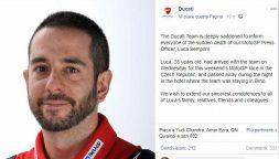 Ducati in lutto: Luca Semprini trovato morto nella sua camera